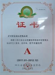 质量信用等级证书