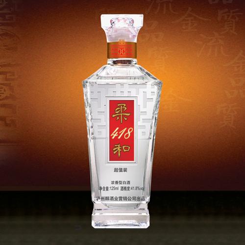 柔和418光瓶装酒